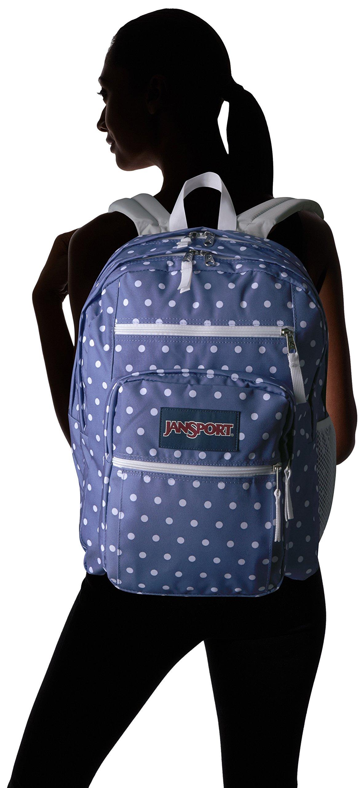 JanSport Big Student Backpack- Sale Colors (Bleached Denim / White Dot)