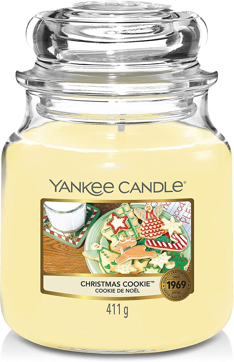 Amazon Com Yankee Candle Medium Jar Candle Christmas Cookie Scented Candle Premium Grade Paraffin Candle Wax With Up To 75 Hour Burn Time Home Kitchen