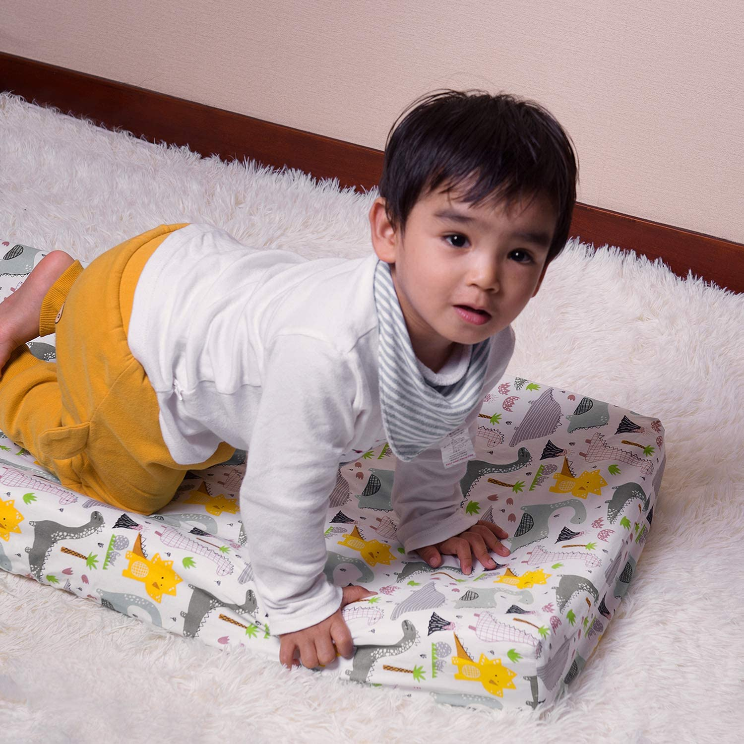 ALVABABY Cradle Mattress 100/% Organic Cotton Soft and Light Baby Changing Pad Cover for Boys and Girls 2TWCZ05