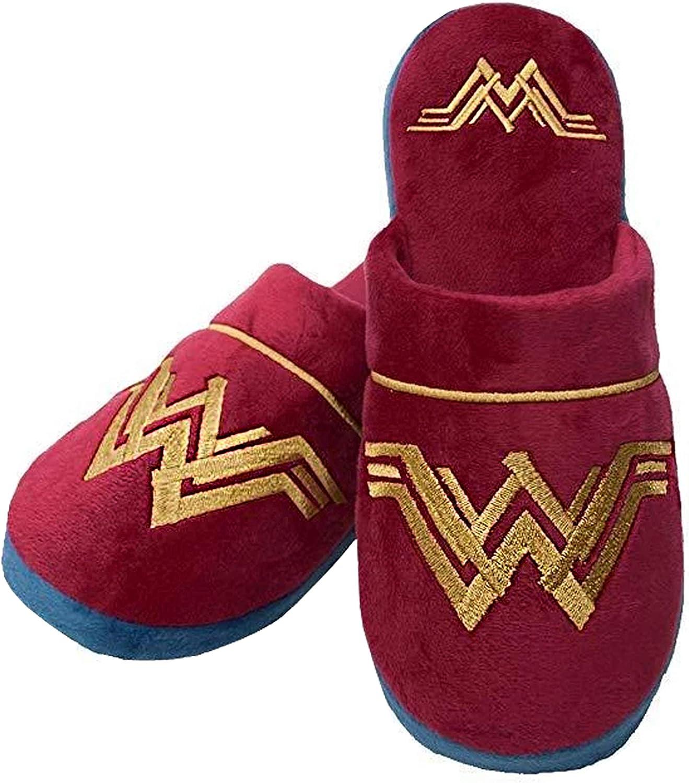 Wonder Woman DC Comics House Chaussures Femme Dames Rouge Chaussons 5-6 UK