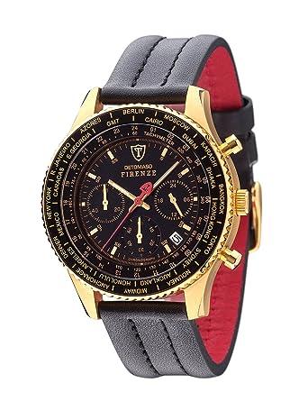 Moderne armbanduhr herren  DETOMASO Herren-Armbanduhr Firenze Chronograph mit Lederarmband ...