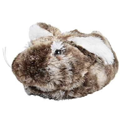 bfdabfef31b6 Ladies Faux Fur Bunny Rabbit Slippers Girls Luxurious Novelty Flop Ears UK  3-4 Grey