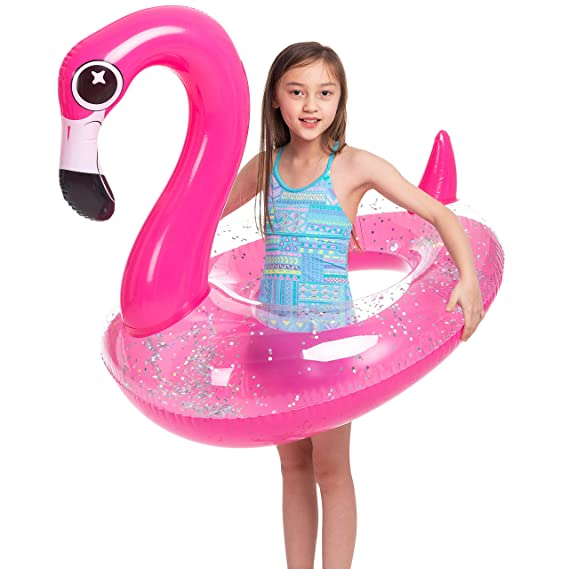 Amazon.com: JOYIN Flotador hinchable de flamencos con ...