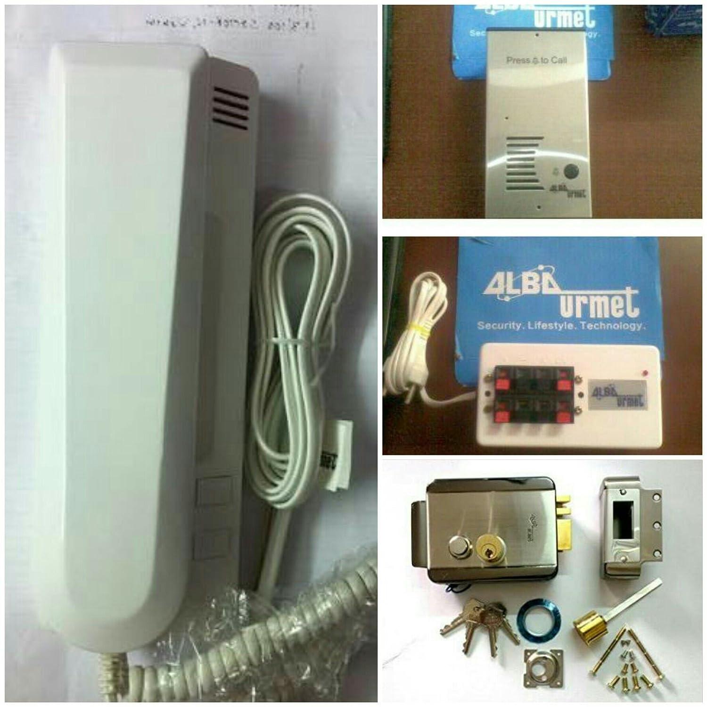 Alba Urmet Audio Door Phone Kit Containing Outdoor Box Indoor Vdp Wiring Diagram Handset And Lock Electronics