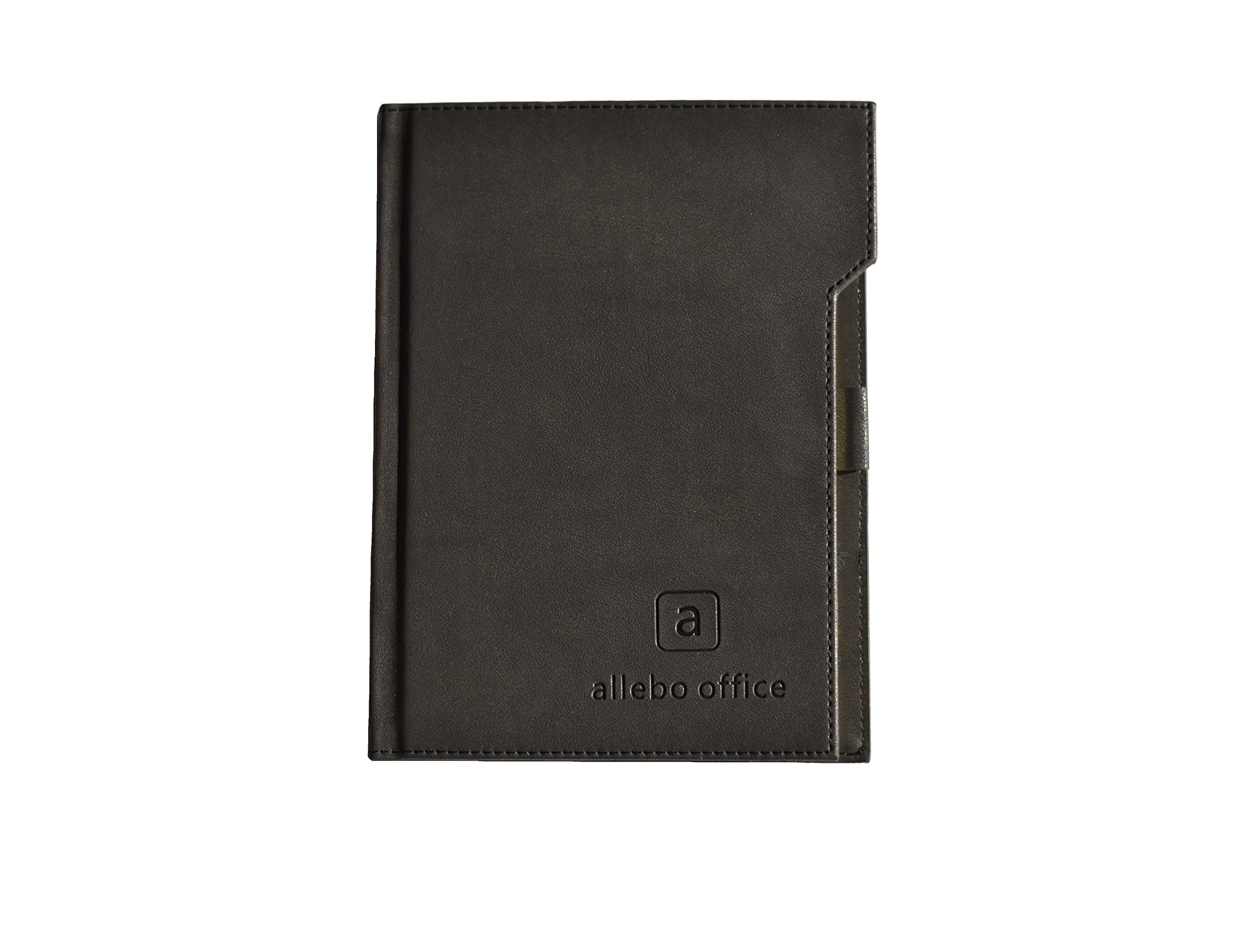 2018-2019 Yearly Planner - Weekly Goal/Day Organizer - Black Hardcover With Pen Holder and Inner Pouch - Allebo Office