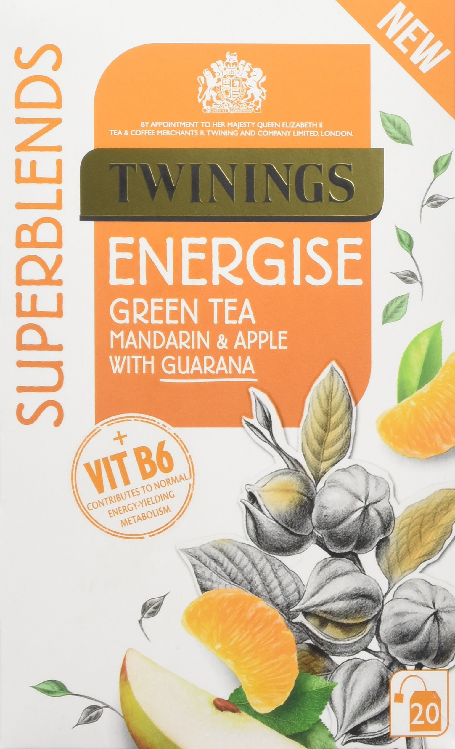 Twinings Superblends Energise, 80 Tea Bags (Multipack of 4 x 20 Bags)