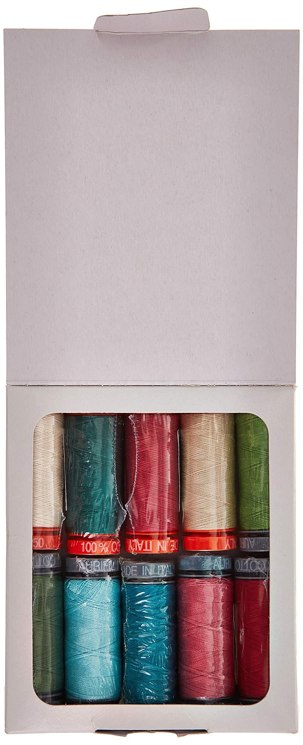 Nancy Rink Designs Painter's Garden Aurifil Thread Kit 5 50wt & 6 28wt Small Spools NR5028PG10 by Aurifil