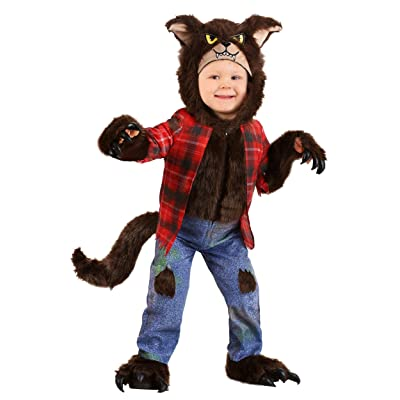 Toddler Brown Werewolf Costume Cute Werewolf Costume Kids: Clothing
