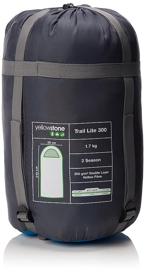 Yellowstone Trek Lite Classic 300 - Saco de dormir rectangular para acampada, color: Amazon.es: Deportes y aire libre