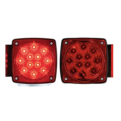 Optronics TLL28RK Red LED Combination Tail Light Set: Automotive