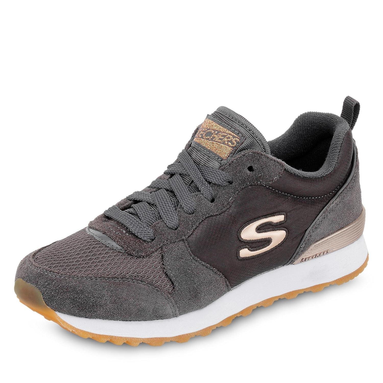 Skechers Scarpe Sportive per Donna Originals in Tessuto e Camoscio Colore GrigioGrau