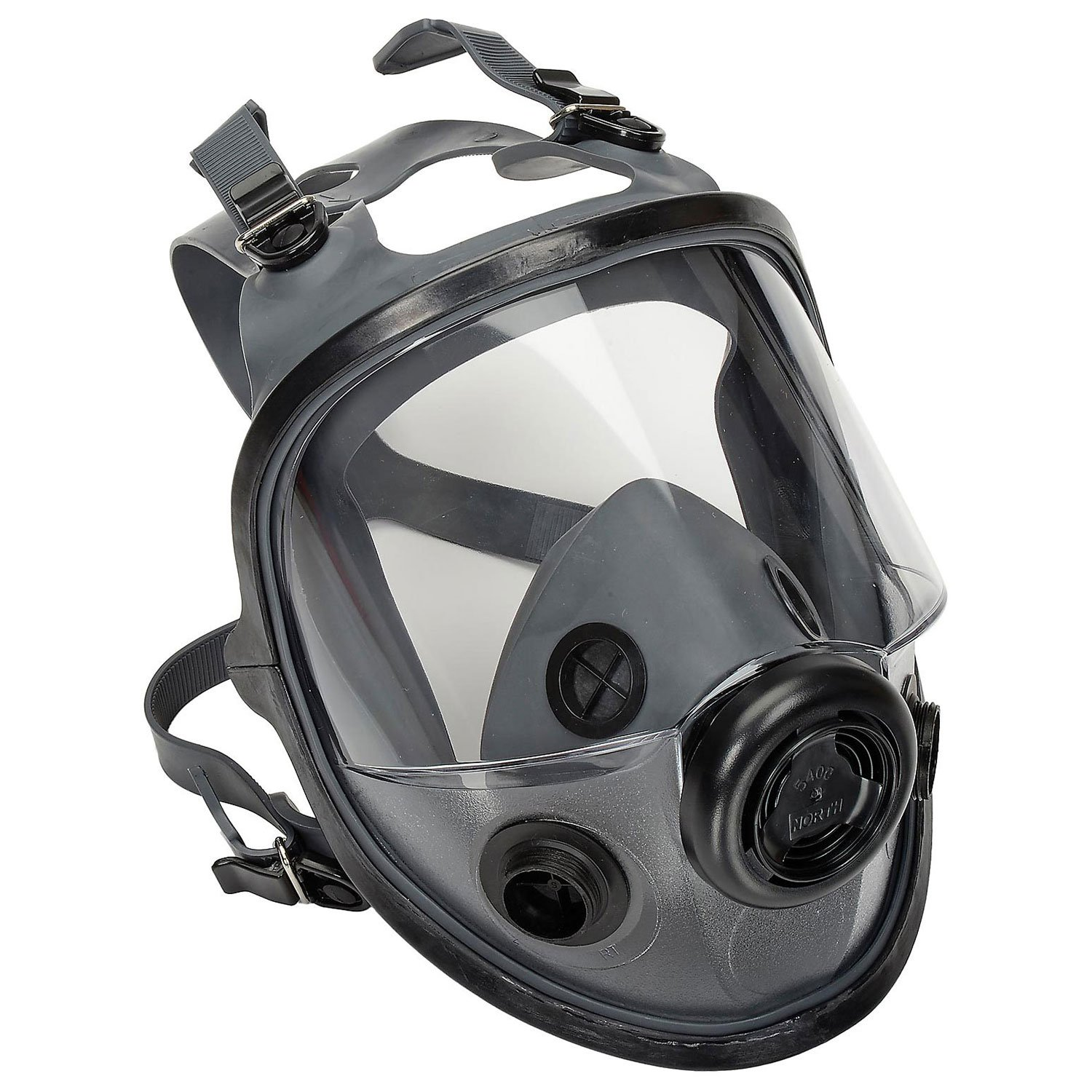 North by Honeywell 54001 5400 Series Low Maintenance Full Facepiece Respirators, Medium/Large