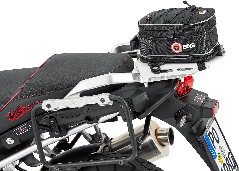 Qbag Hecktasche Motorrad Motorradtasche Hecktasche Motorrad Hecktasche 02 Motorradgepäck Tasche Hinterradgepäckträger Universell Einfache Montage 5 Bis 8 Liter Stauraum Schwarz Auto