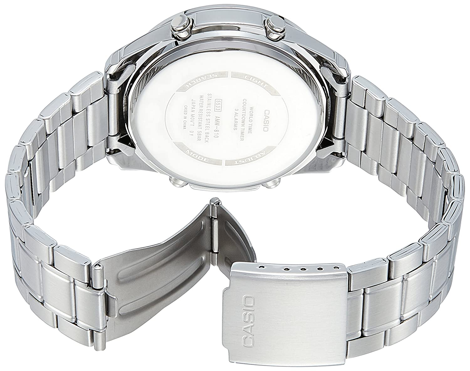 Amazon.com: Casio AMW810D-2AV Mens Stainless Steel Active Dial Watch: Watches