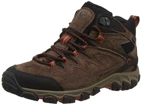 Merrell Serraton Mid Waterproof Mens Laceup Trekking and Hiking Boots   Brown