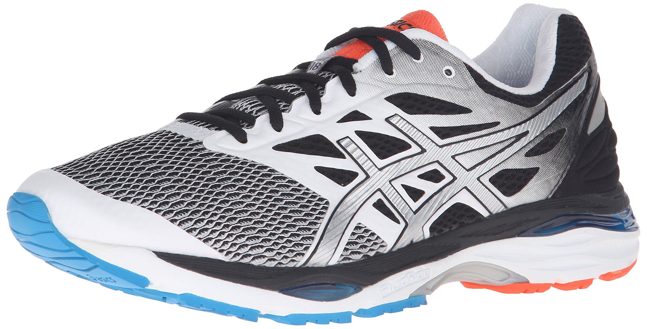 ASICS Men's Gel-Cumulus 18 Running Shoe, White/Silver/Black, 11 M US