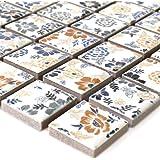 Ceramica tessere di mosaico bianco Flower