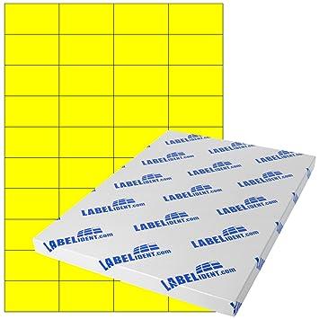 permanent 400 Papier-Etiketten A4 Bogen neon-gelb 105 x 148 mm