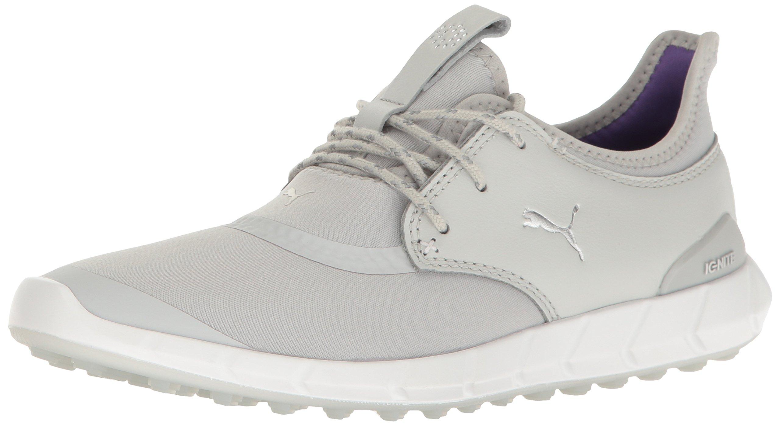 PUMA Women's Ignite Spikeless Sport WMNS Golf Shoe, Gray Violet Silver-Royal Purple, 8 Medium US by PUMA