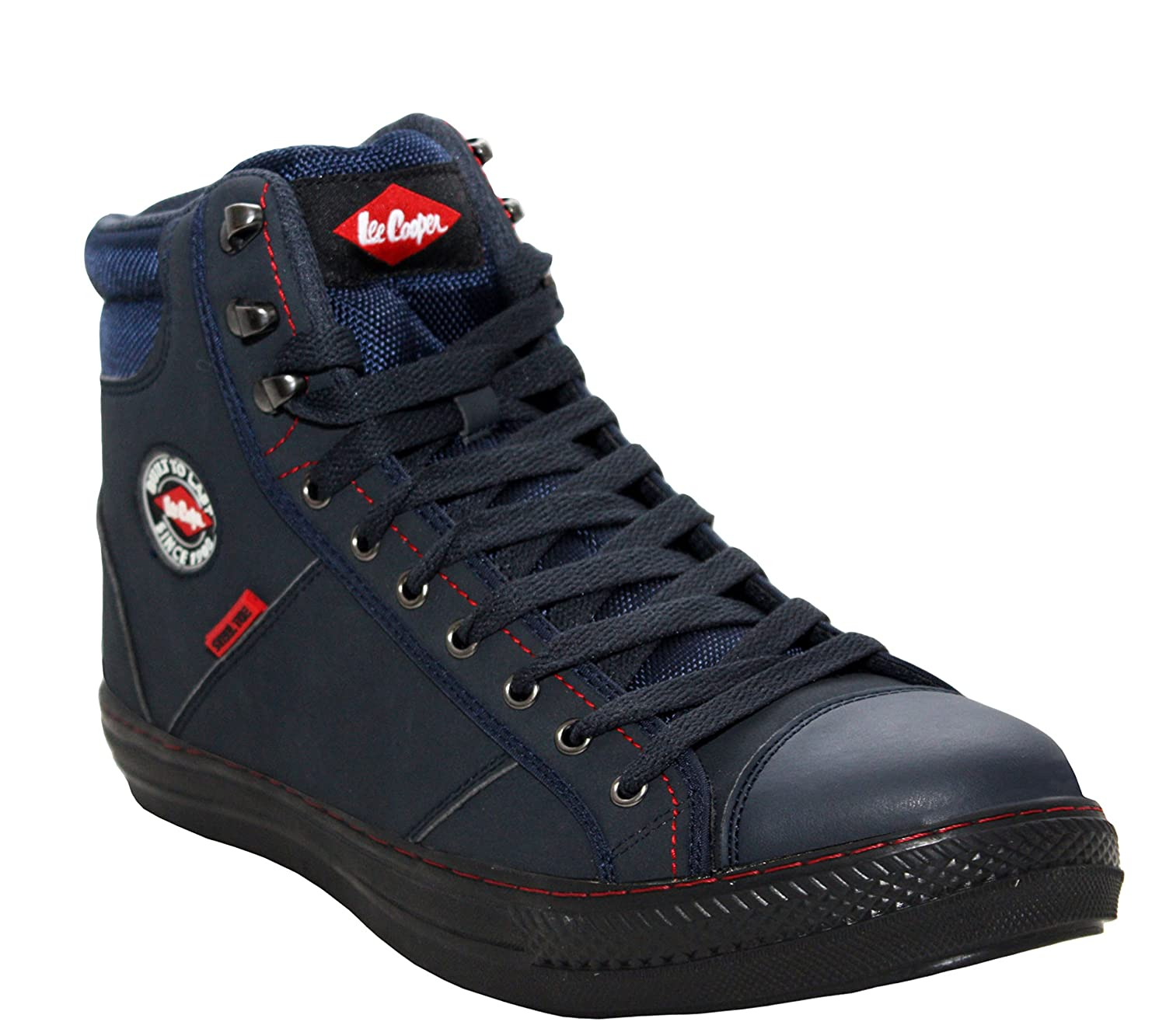 ba29e81d39c Lee Cooper Mens Lightweight Flexible Padded Ankle Collar Steel Toe Cap  Baseball Trainer Industrial Work Safety Shoes UK Sizes 6-12  Amazon.co.uk   Shoes   ...