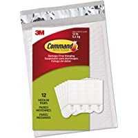 Command Medium Picture Hanging Strips, Holds 12 lbs, Indoor Use, White (PH204-12NA)