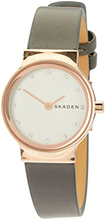 Skagen Women's Black Leather Freja Watch