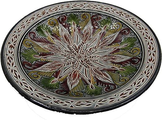 Etnico 0506191234 - Plato de Centro de Mesa de cerámica para Pared ...