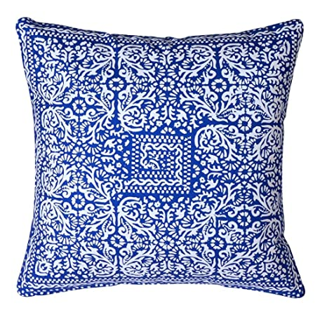 Amazon.com: Azul manta almohadas manta decorativa almohadas ...