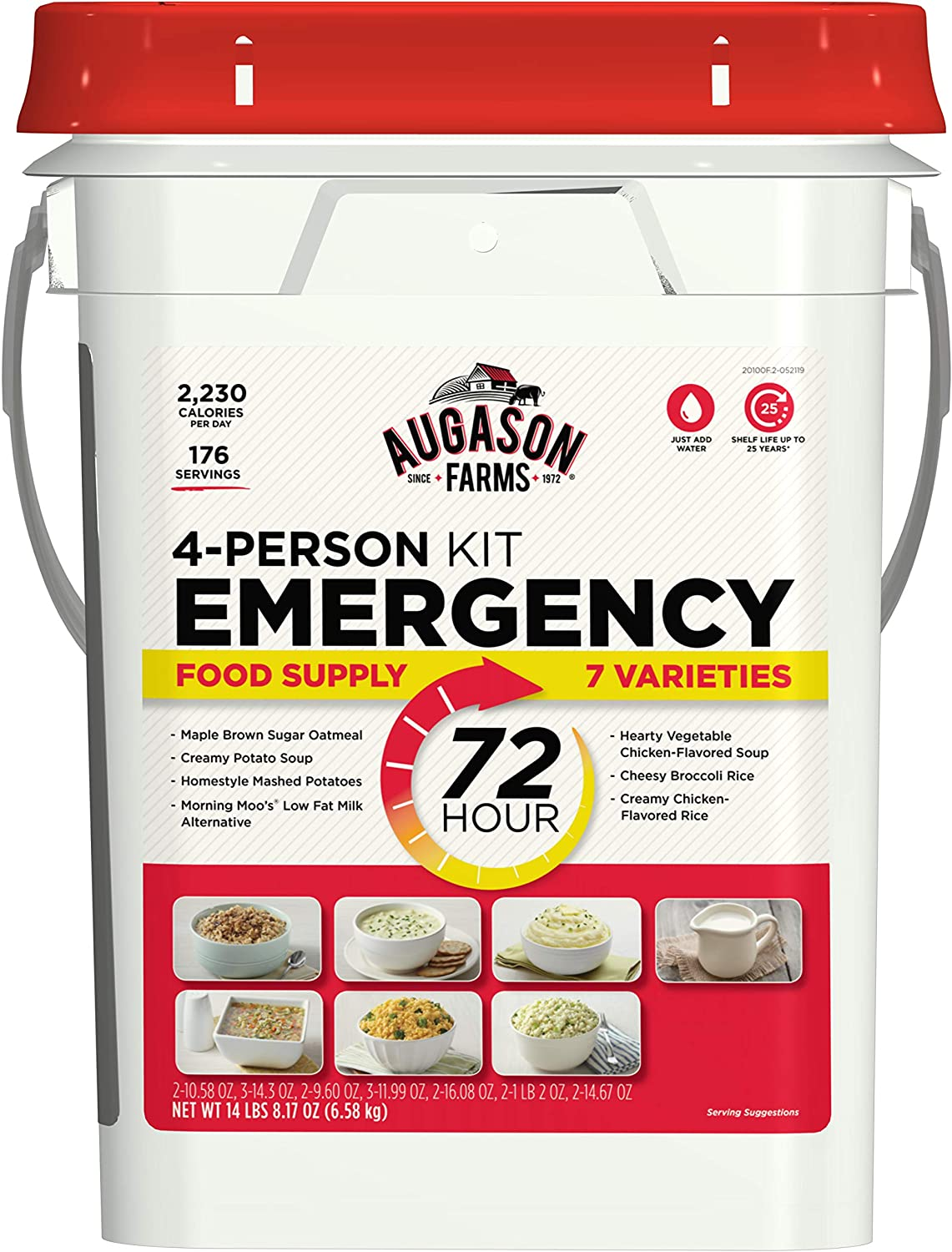 Augason Farms 5-20100 72-Hour 4-Person Emergency Food Storage Kit 14 lbs 7 oz