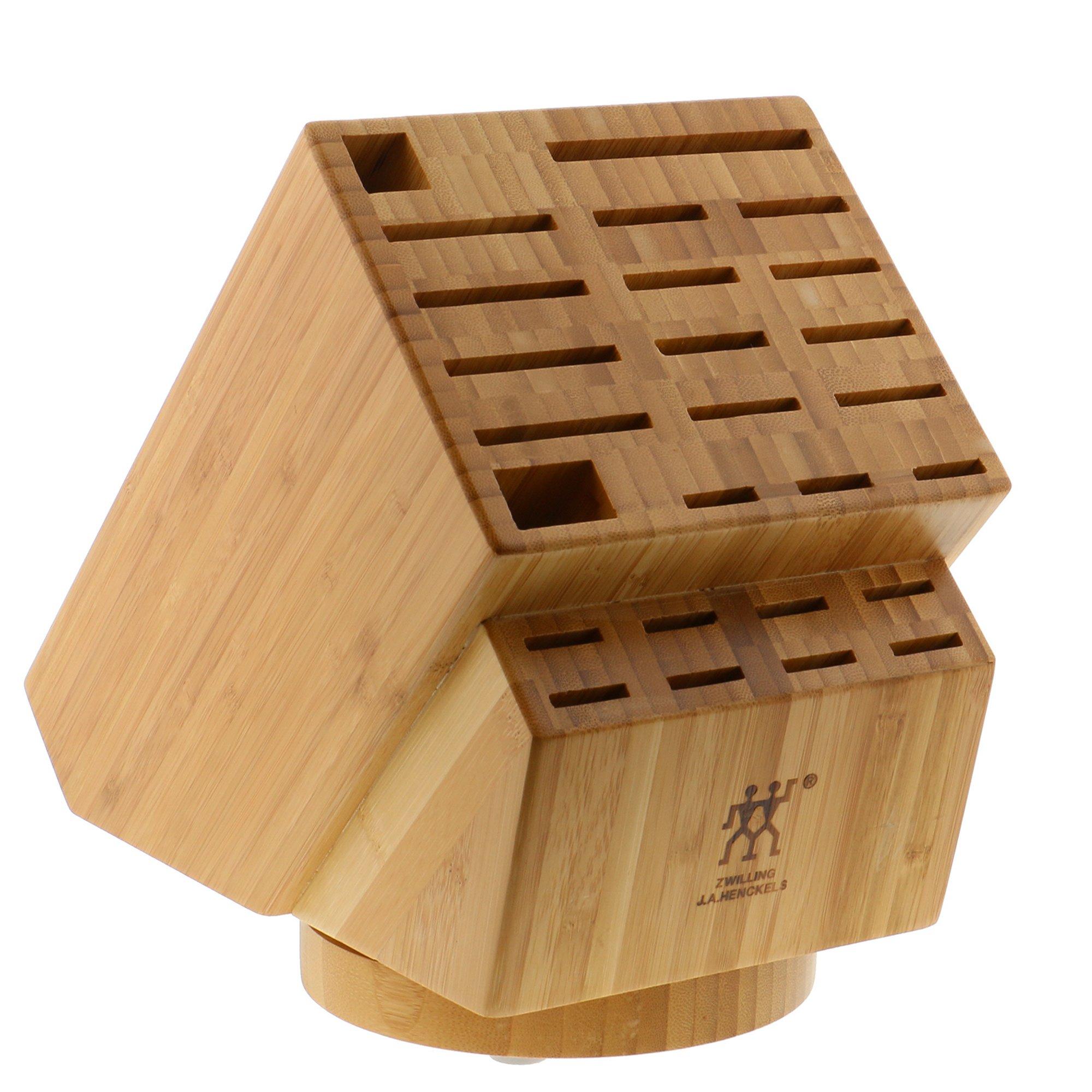 Zwilling J.A. Henckels 35101-840 26-Slot Bamboo Swivel Knife Block