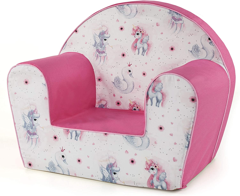 Tabouret pour enfants I Enfants fauteuil Si/ège de canap/é Meubles pour enfants PINK-MHF125 0-4 ans   MuseHouse chaise enfant