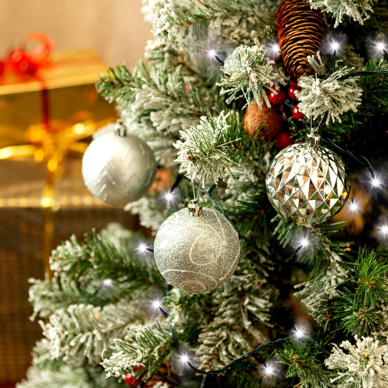 Christow Bright White LED Chaser Christmas Fairy String Lights