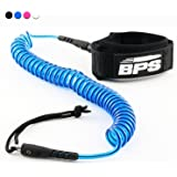 BPS 'STORM' ULTRALITE 10 Foot COILED SUP Leash (4 Colors)