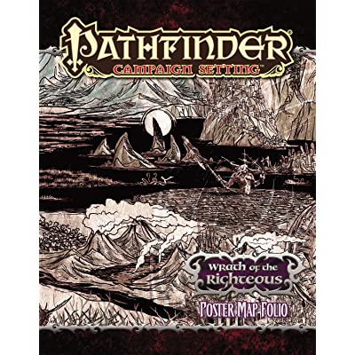 Pathfinder Campaign Setting: Wrath of the Righteous Poster Map Folio: Lazzaretti, Robert, Staff, Paizo: Toys & Games