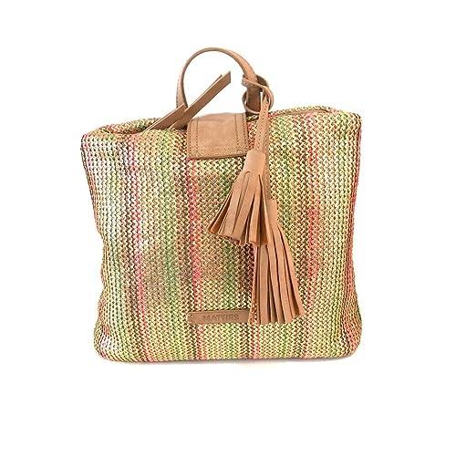 Matties Bags Bolso Mochila Celeste Camel: Amazon.es: Zapatos y complementos