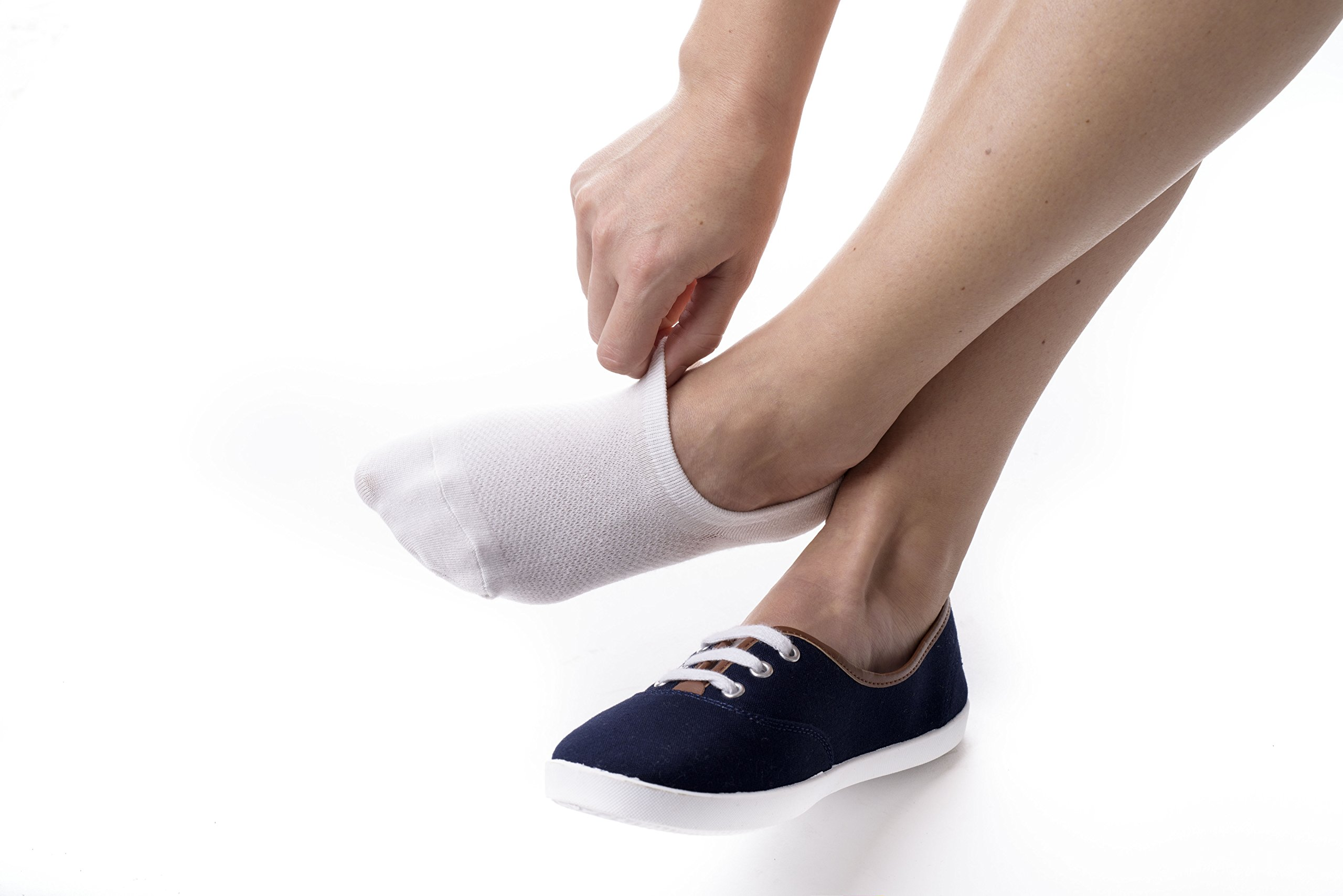 Bam&bü Women's Premium Bamboo No Show Casual Socks - 3 or 4 pair pack - Non-Slip by bam & bü (Image #4)