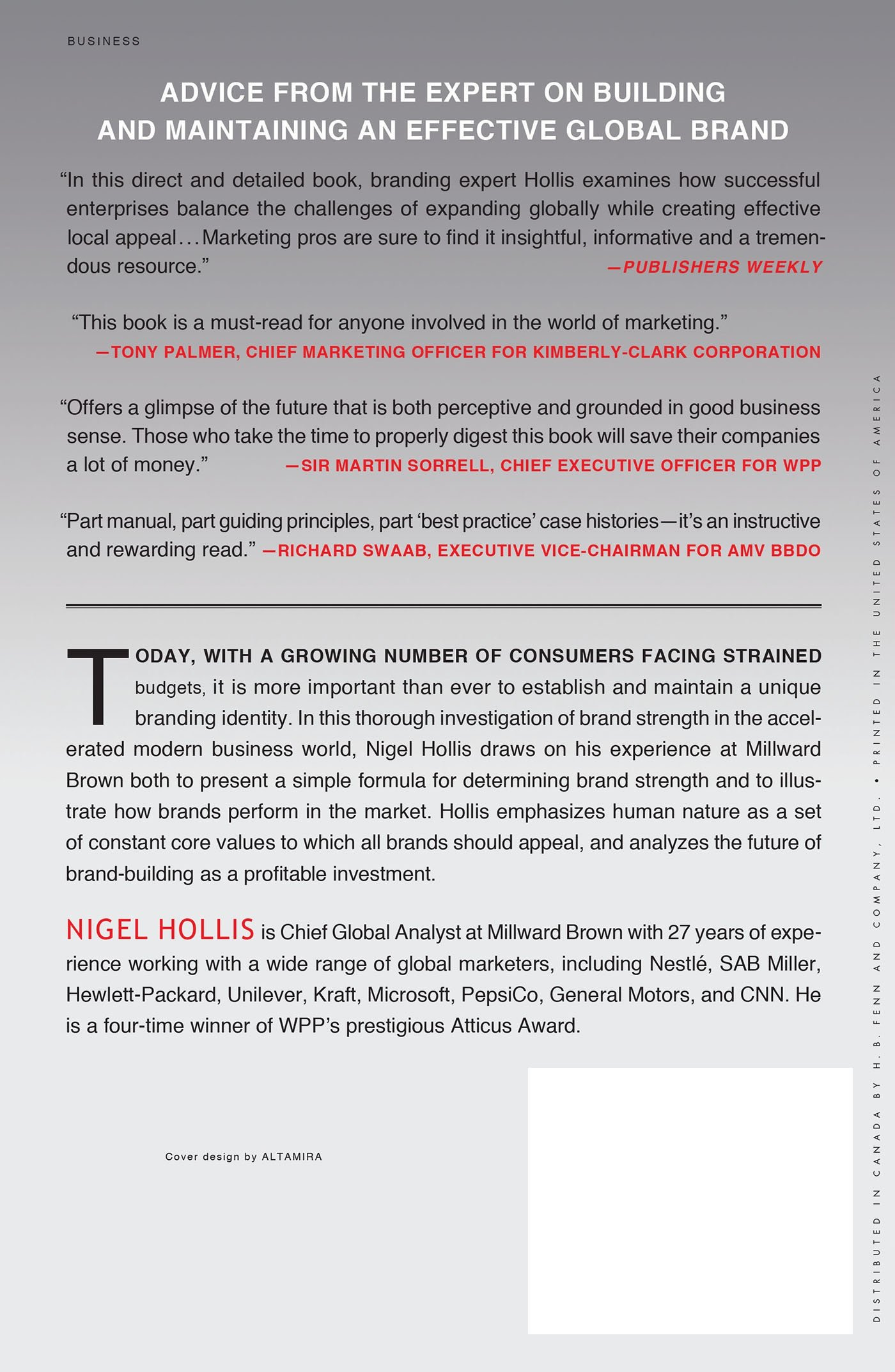 The Global Brand: How to Create and Develop Lasting Brand Value in the World Market: Amazon.es: Nigel Hollis: Libros en idiomas extranjeros