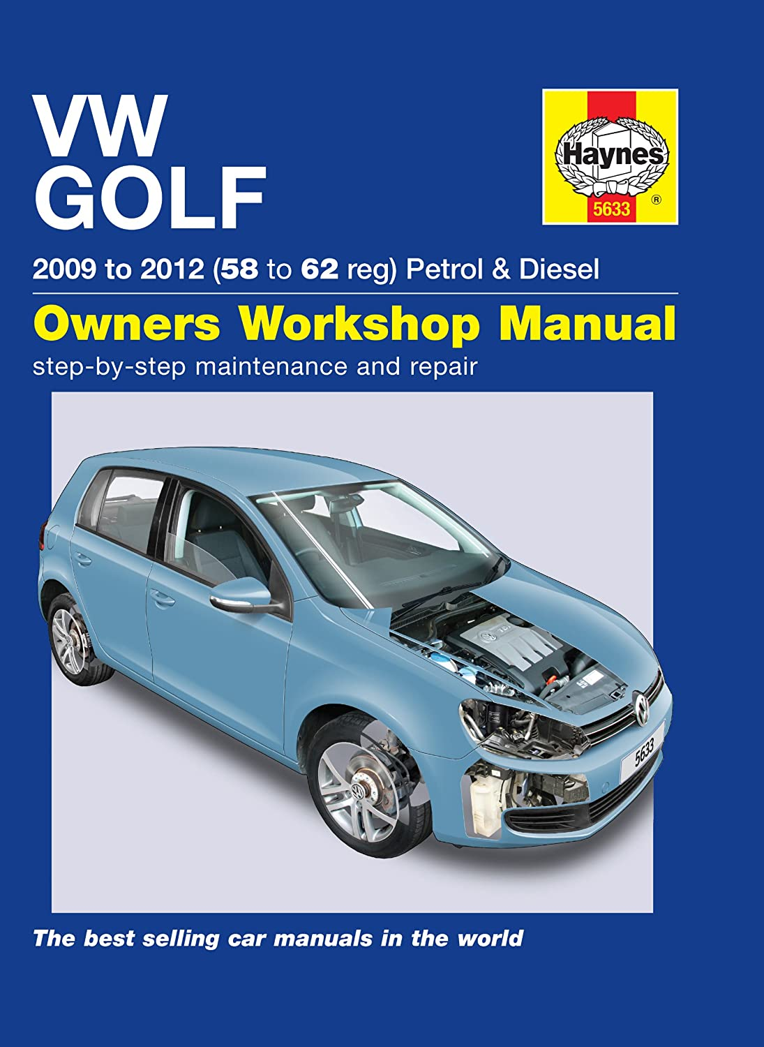Volkwagen Golf Repair Manual Haynes Manual Service Manual Workshop Manual  2009-2012