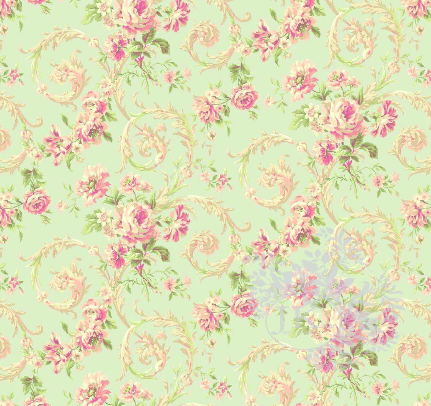 Floral Dreams French Style Wallpaper Dolls House Miniature