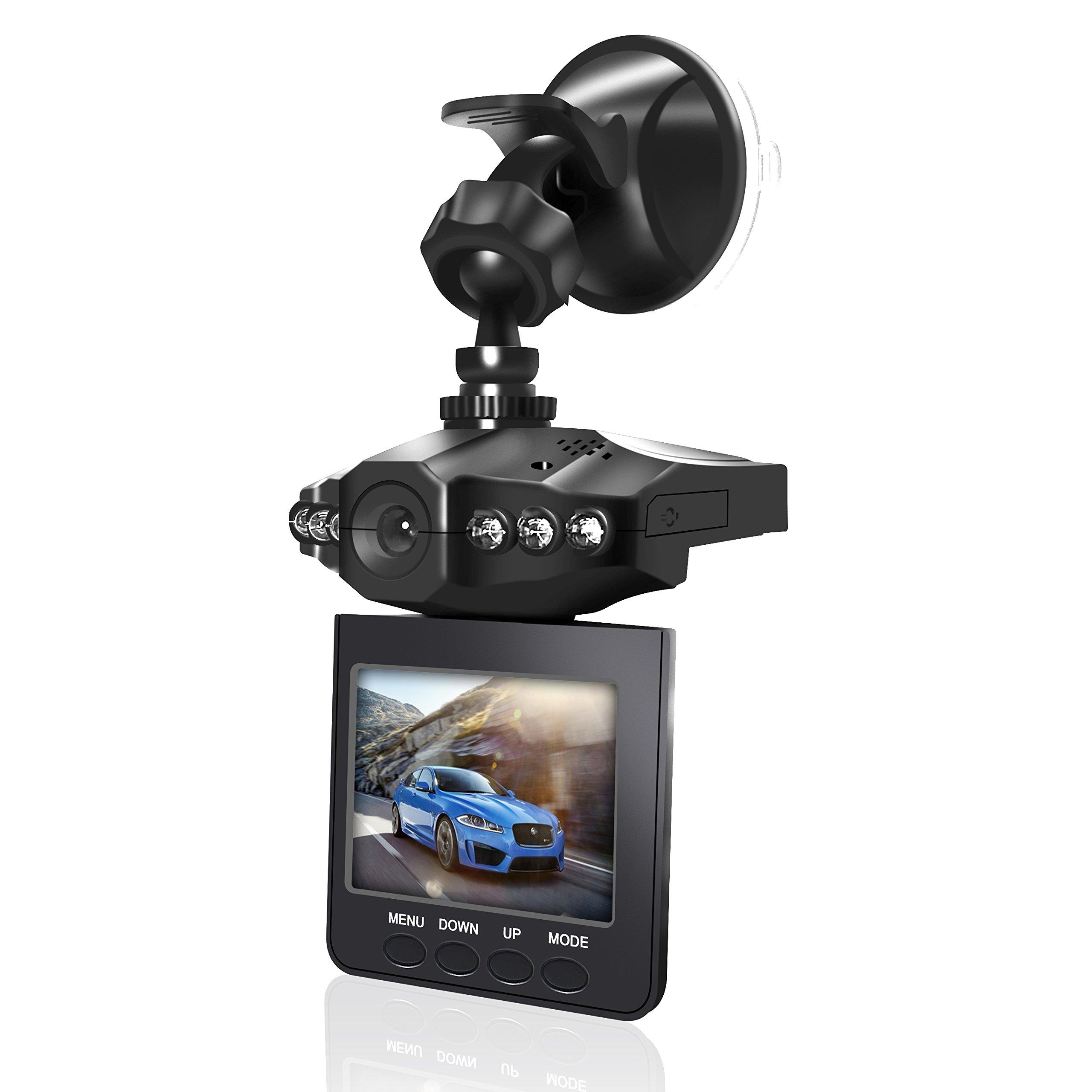 econoLED Dash Cam,Car DVR,Dashboard Camera,Car Recorder 2.5'' for Cars/HD IR Dash Cam 270 Degrees Rotatable Camera Video Recorder/Traffic Dashboard Camcorder Loop Recording-No Card