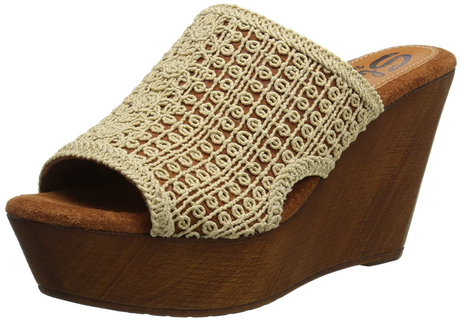 Sbicca Women's Morrobay Wedge Sandal B00O2FMXOA 10 B(M) US|Natural