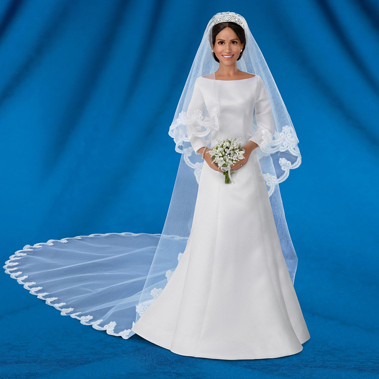 The Ashton-Drake Galleries Meghan Markle Porcelain Bride Collector Doll with Swarovski Tiara