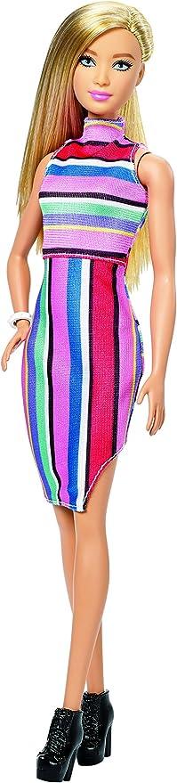 Barbie Fashionista Vestido Cuello Halter Rayas (Mattel ... - Amazon.es