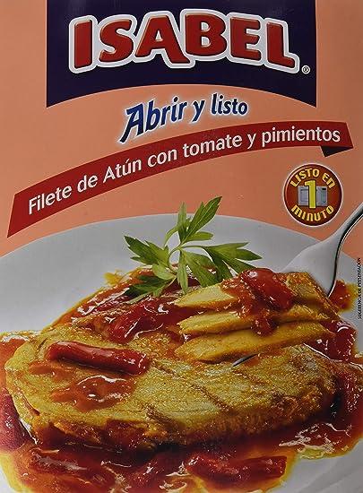 Isabel Filete de Atún con Tomate y Pimiento - 150 gr: Amazon ...