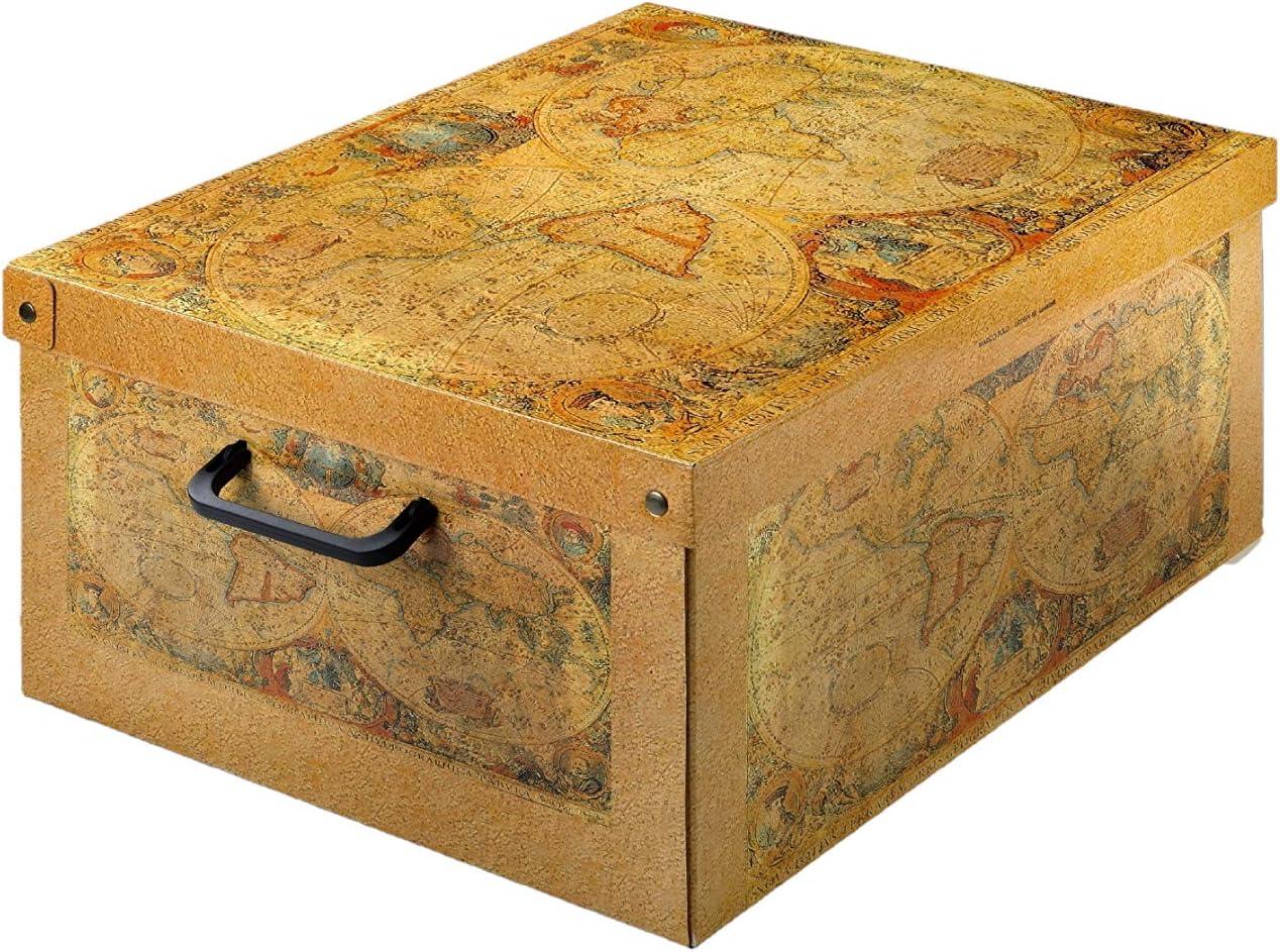 Kanguru Caja de Almacenamiento en cartòn Lavatelli, Modelo Marco Polo, Pequeña 25x35x17, PEQUEÑA25x35x17,5cm