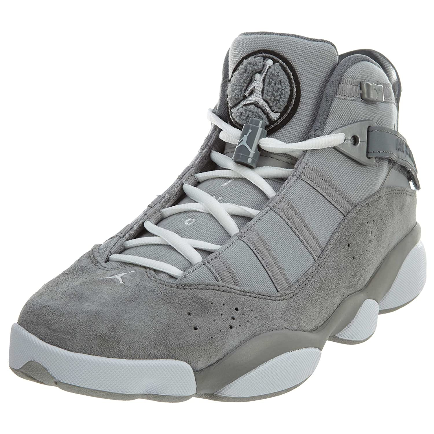 80955f10f332 Jordan 6 Rings Mens Fashion-Sneakers 322992-014 12.5 - Matte Silver White-Cool  Grey  Buy Online at Low Prices in India - Amazon.in