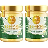 Original Grass Fed Ghee Butter by 4th & Heart, 32 Ounce (2 x 16oz Jars), Keto, Pasture Raised, Non-GMO, Lactose and Casein Free, Certified Paleo