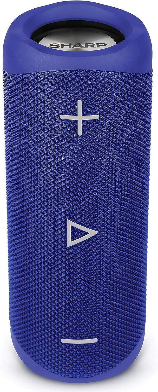 Sharp Gx Bt280 Bl Stereo Bluetooth Lautsprecher Kräftiger Bass Hochdynamischer Klangbereich 12 Stunden Spielzeit Staub Spritzwassergeschützt Mikrofon Für Telefonate Google Siri Blau Audio Hifi