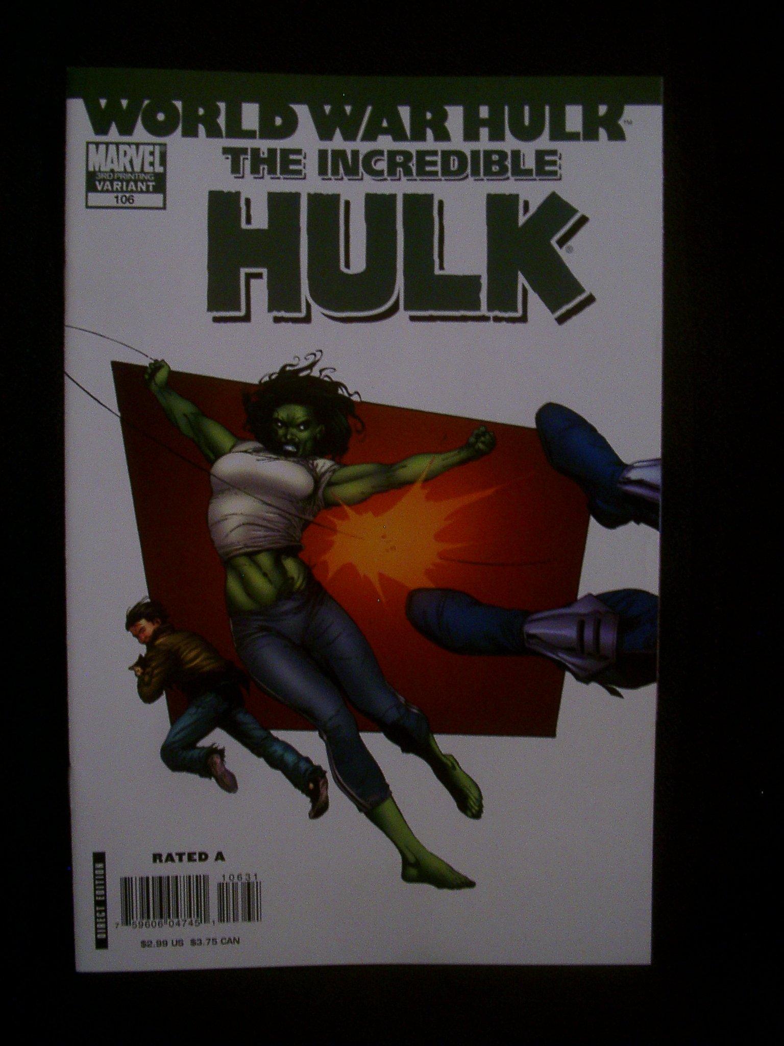 Incredible Hulk #106 3rd Print Variant Cover PDF