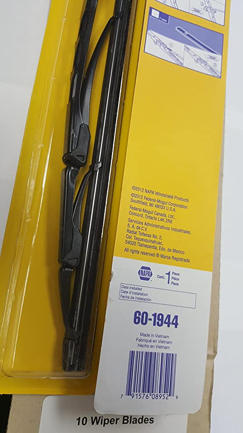 Amazon.com: 60 napa wiper blades 10 0f each 18,19,20,21,22,24 metal frame: Automotive
